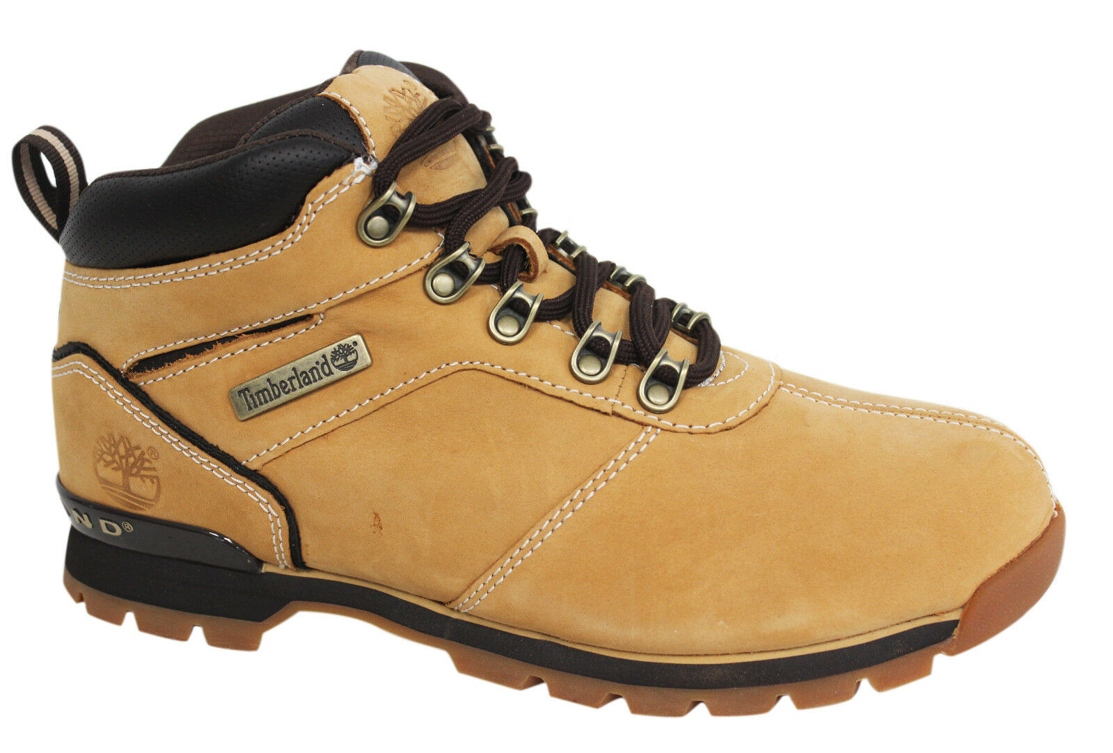 5a5a8944d231 Details about Timberland Splitrock 2 Hiker Nubuck Leather Wheat Mens Lace  Up Boots A11X4 D95