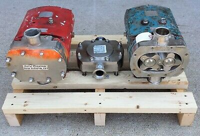 Lot Tri-clover Rotary Lobe Positive Displacement Sanitary Pumps Tcip3nld