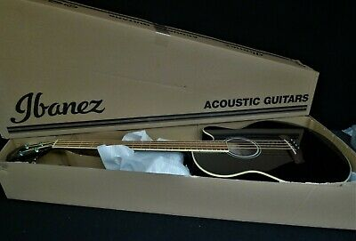 Ibanez AEB5E BKR Acoustic-Electric Bass Guitar BLACK , Pickup with AEQ2T PRE-AMP