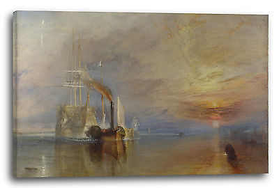 William Turner (Lein-Wand-Bild Kunstdruck: William Turner The Fighting Temeraire)