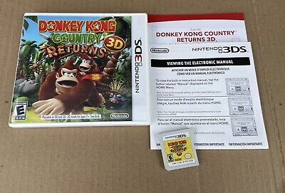 Donkey Kong Country Returns 3D (Nintendo 3DS) Complete! Tested! Very Nice!