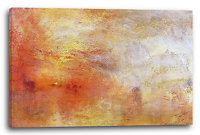 William Turner (Lein-Wand-Bild Kunstdruck: William Turner Sun Setting over a Lake 1840)