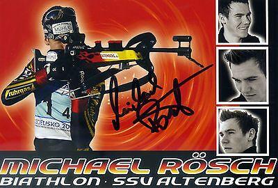 Original Autogramm Michael Rösch Biathlet Biathlon Altenberg