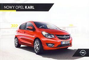 Opel Karl 04 / 2015 catalogue brochure - <span itemprop='availableAtOrFrom'> Varsovie, Polska</span> - Opel Karl 04 / 2015 catalogue brochure -  Varsovie, Polska