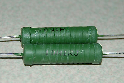 2pcs 1ohm 10 Watts 5 Wirewound Power Resistor 10w 1ohm 10w 1rj 1r