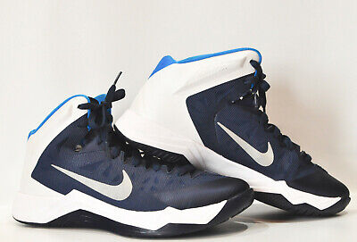 bfc5d0648ad5 Nike Mens Zoom Hyper Quickness Shoes Mens Sz 10 Blue High Top Basketball  599420