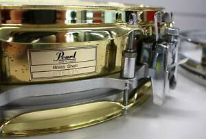 Pearl Brass Shell Free Floating Snare Drum, 14 x 3.5 Inch, Extra Hoops Nerang Gold Coast West Preview