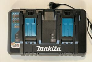 NEW Makita 18V Cordless Battery Same Time Dual Port Charger