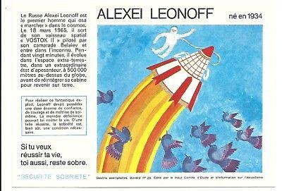 2 Buvards Sécurité Sobriété - ALEXEI LEONOFF N°29, (21 à 30 diponibles)