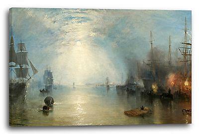 William Turner (Lein-Wand-Bild Kunstdruck: William Turner Keelmen Heaving in Coals by Moonlight)