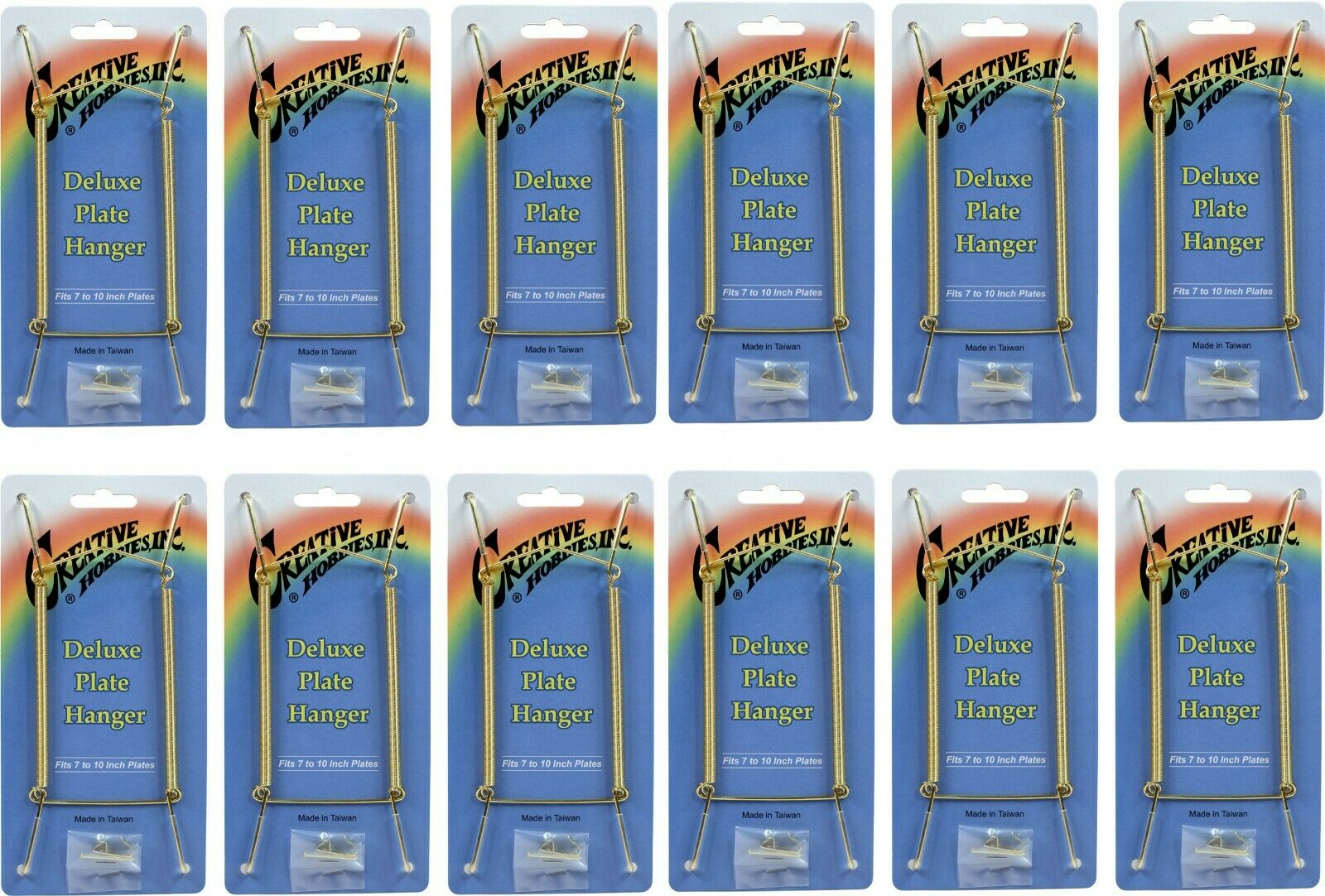 Gold Plate Display Hangers, Spring Type,Hold 7 to 10 Inch Plates -Pack of 12 Crafts