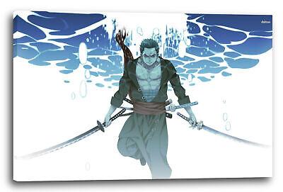 Wandbild One Piece Roronoa Zoro unter Wasser mit Samurai-Schwertern