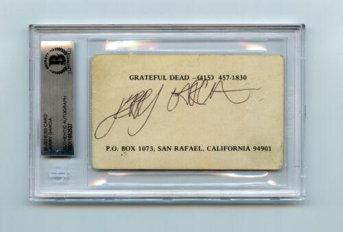 Jerry Garcia Signed Grateful Dead Business Card BAS COA Auto Autographed JSA Cut