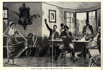 Rudolf Eichstädt ( Kurmärker und Picarde ) Künstlergraphik Holzstich um 1900