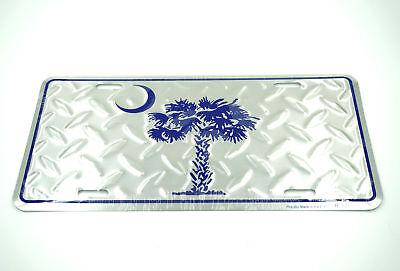 South Carolina Palmetto Moon Diamond Aluminum Metal Car License Plate Sign Tag ()