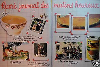 PUBLICITÉ 1981 RICORÉ CHICORÉE CAFÉ SOLUBLE JOURNAL DES MATINS HEUREUX -