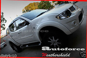 MITSUBISHI TRITON DUAL CAB 2006-2013 WEATHER SHIELD WEATHERSHIELD  WINDOW VISOR