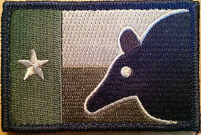 Larue Tactical Morale Patch - FDE Texas Flag Dillo Head - Brand New
