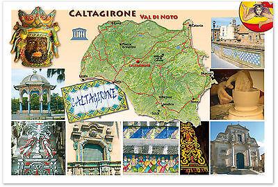 CALTAGIRONE VAL DI NOTO BAROCCO UNESCO CARTOLINA SICILIA SICILY POSTCARD