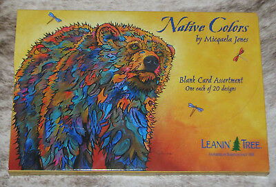 LEANIN TREE Native Colors GREETING CARDS~Blank~1 ea 20 designs~#90796~M. Jones~ Ast Colored Paper