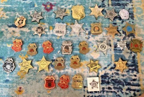 Lot of 32 vtg Replica Jr Police Badges- Plastic
