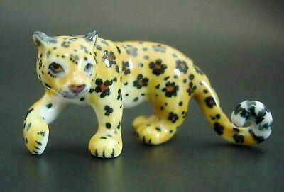 Ceramic LEOPARD Spotted Cat Coloured Ornament Beautiful Curio Display Animal