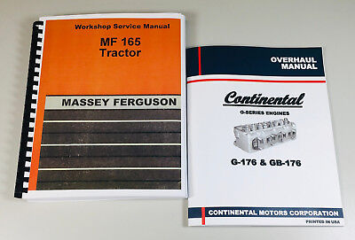 Massey Ferguson 165 Tractor Continental Engine Service Manual Set