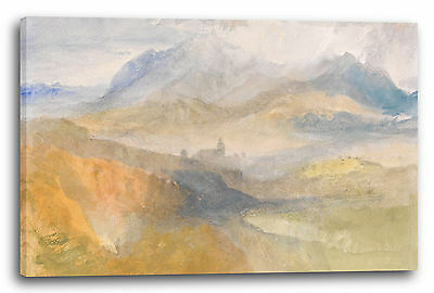 William Turner (Lein-Wand-Bild Kunstdruck: William Turner A distant view over Chambéry, from the)