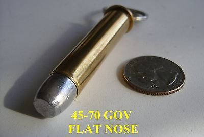 REAL BULLET KEYCHAIN 45-70 GOVERMENT
