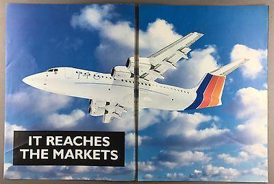 BRITISH AEROSPACE BAE 146 LARGE MANUFACTURERS SALES BROCHURE 1990'S