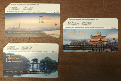 Extremely rare full set Hangzhou NYC Subway MetroCard in mint NEW condition
