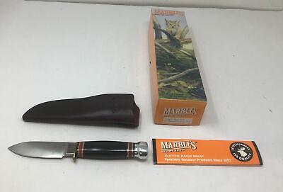 NEW Rare Marbles Gladstone USA Sport 99 Black Micarta Fixed Blade Knife