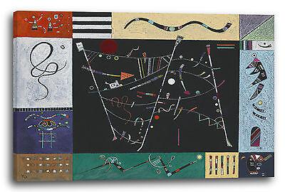 Lein-Wand-Bild Kunstdruck: Wassily Kandinsky - Studie für das Ensemble (1940)