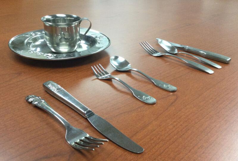 Stainless Child Sets Selandia Ducks Community Care Bears Mug Forks Spoons Plate