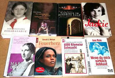 Romanpaket: 8 Frauenschicksale Erlebnisse Biografien - Titelliste -