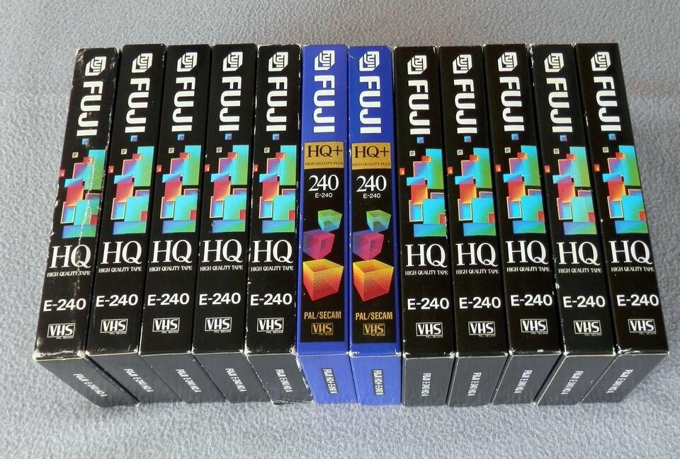 10 x VHS Videokassetten FUJI - E - 240 und 2 x E - 240 N in Wetzlar