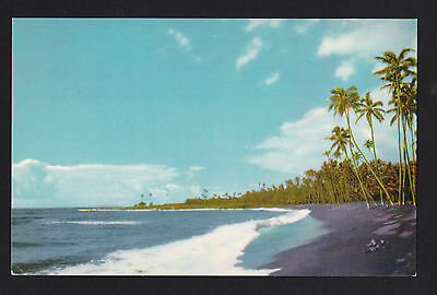 Vintage 76 Union Oil Black Sands Of Kalapana Beach Hawaii Landscape Postcard