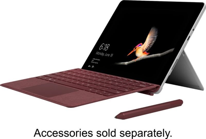 "Microsoft Surface Go 10"" Touch-Screen Intel Pentium Gold 4GB Memory 64GB Storage Silver MHN-00001"