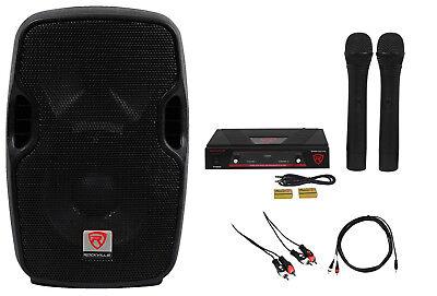 Rockville Pro Powered 8  Karaoke Machine System 4 Ipad Iphone Android Laptop Tv