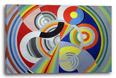 Lein-Wand-Bild Kunstdruck: Robert Delaunay Rhytmus Nr. 1, Dekoration für das Sal