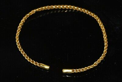 Ancient Viking Weaved Gold Bracelet, c. 9th Century A.D.