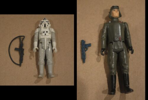 Star Wars Vintage AT AT Driver and Commander With Blasters Empire Strikes Back