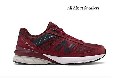 """New Balance Made in US 990v5 """"Burgundy w"""" Men's Trainers All Sizes Limited Stock"""