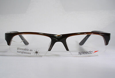 Sporty SPEEDO Semi Rimless Eyeglass Frames Medium to Large Swimming Swimmer