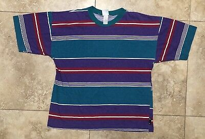(Rare Vintage Striped Tee By Lighting Bolt Bolt Mens Size L Large)