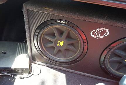 kicker subwoofer and jl amp setup wiring kit head unit Darwin CBD Darwin City Preview