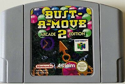 Bust-A-Move 2 Arcade Edition Nintendo 64 N64 Cart Only Bust A Move Puzzle Bobble