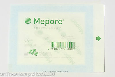 MEPORE ADHESIVE  FABRIC DRESSING  QUALITY MOLNLYCKE BRAND  6 x 7 CM 10 PIECES