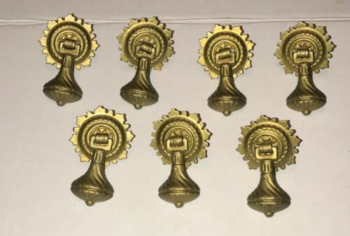 Antique Vintage Victorian Ornate Drop Drawer Pull Handle Hardware set of (7)
