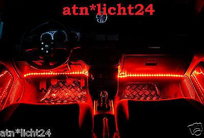 4x 24v Led Light Strip Beam Strip Trim 33,5cm 18 x 3825 SMD Ip67 Red
